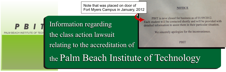 Palm Beach Institute of Technology Lawsuit